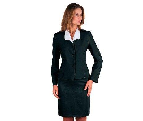 chaqueta americana mujer uniforme hotel negra