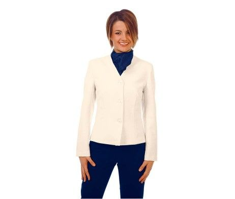 chaqueta americana mujer uniforme hotel color crema