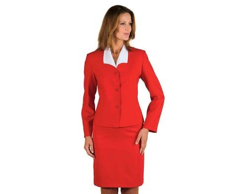 chaqueta americana mujer uniforme hotel rojo