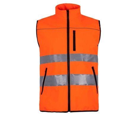 chaleco alta visibilidad tejido color naranja
