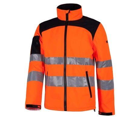 chaqueta alta visibilidad color naranja uso profesional económica