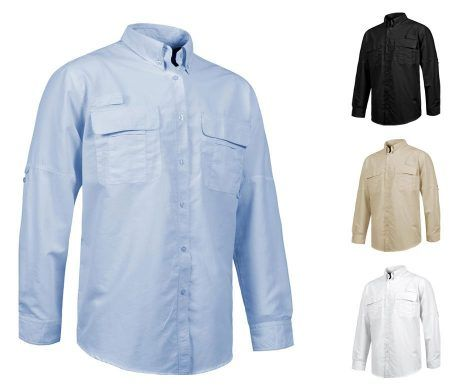 camisa Safari de Trabajo Transpirable Manga Larga