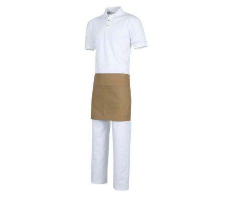 delantal color beig corto camareros