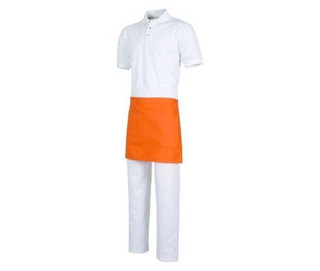 delantal corto naranja