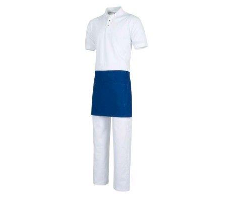 delantal color azul corto camareros