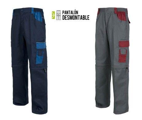 Pantalón Desmontable Multibolsillos Detalles Reflectantes