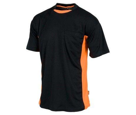 Camiseta Combinada AV Manga Corta 100 Poliester Bolsillo WF1616