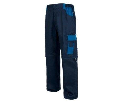 pantalon multibolsillos reflectante azul marino