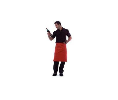 delantal colores frances camarero rojo