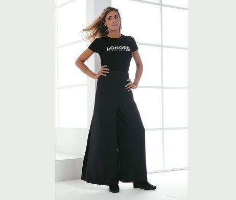 pantalones antidecoloracion peluquería mujer color negro