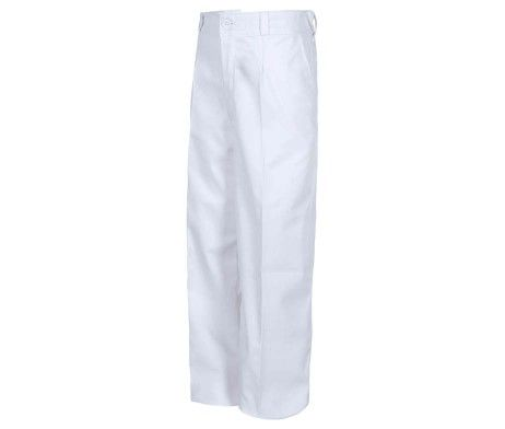 pantalón niño y niña infantil uso laboral blanco