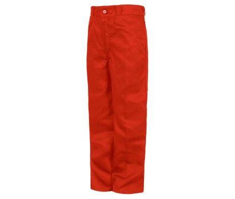 pantalón niño y niña infantil uso laboral rojo