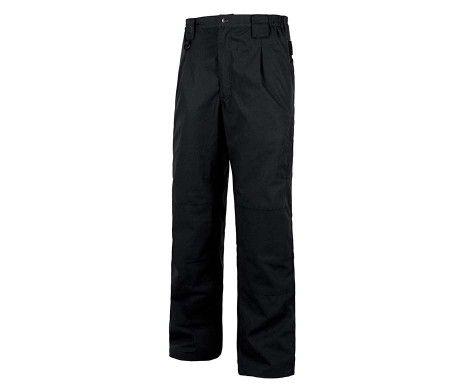 pantalón tejido antidesgarro negro para el frío y el viento