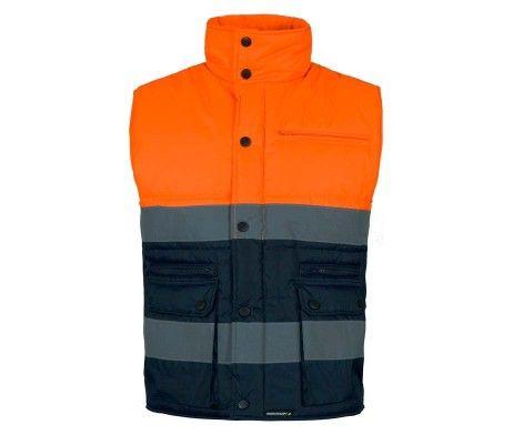 chaleco laboral alta visibilidad naranja