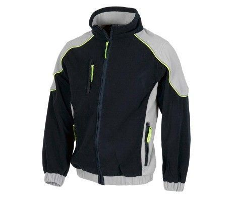 chaqueta polar negra para el frio