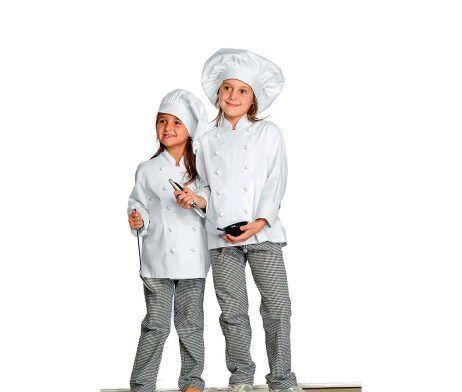 Casaca de cocinero infantil para niños y niñas