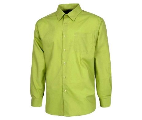 camisa manga larga verde pistacho