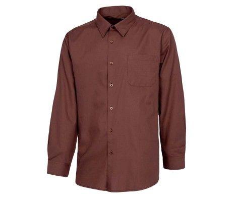 camisa manga larga marrón