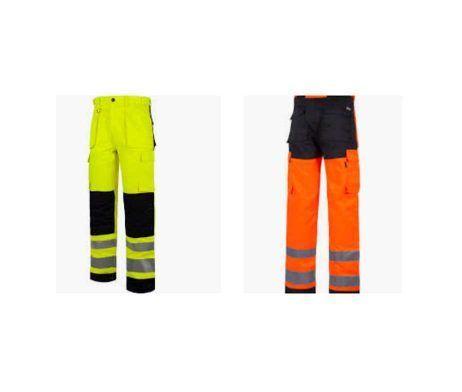 pantalón alta visibilidad para trabajos al exterior
