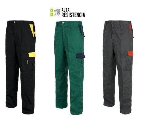 Pantalón Recto Multibolsillos Alta Resistencia Rodilleras WF1550