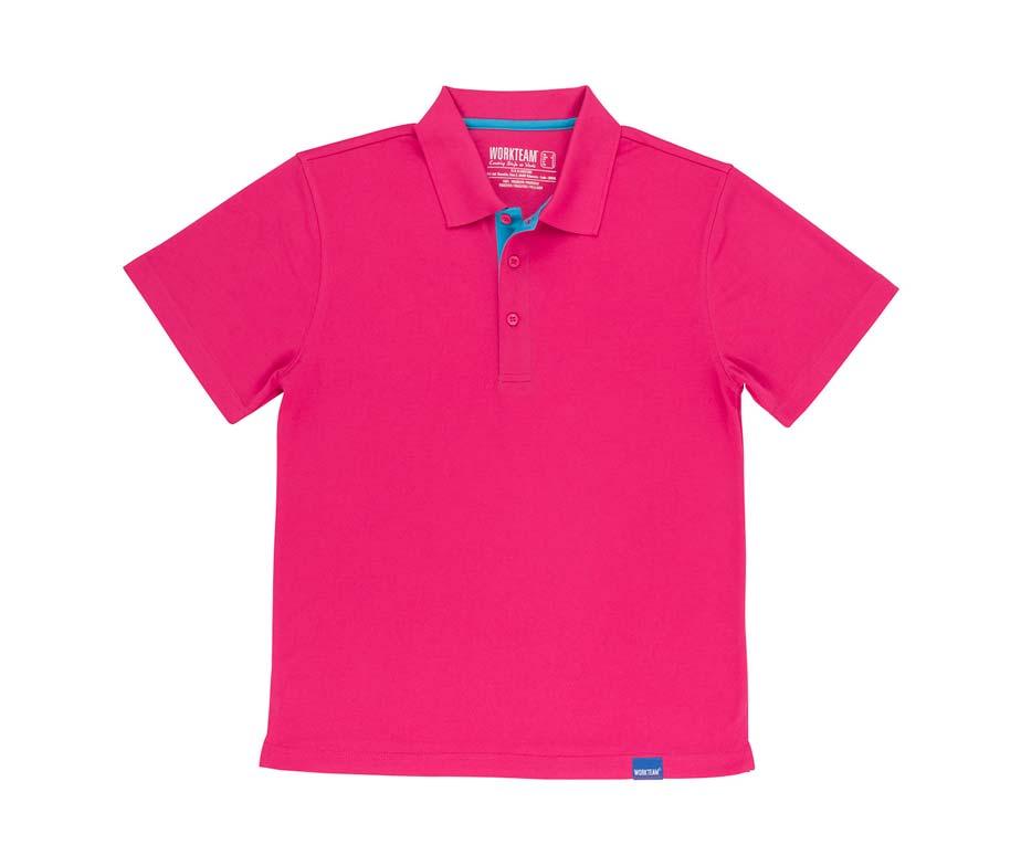 918724662f polo tecnico 100% poliéster rosa fucsia