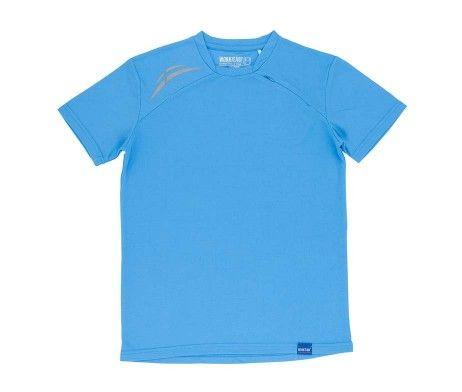 camiseta deportiva poliéster azul celeste