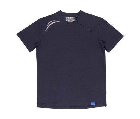 camiseta deportiva poliéster azul marino