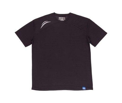 camiseta deportiva poliéster negra