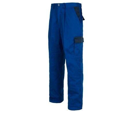Pantalón multibolsillos laboral alta resistencia azul royal