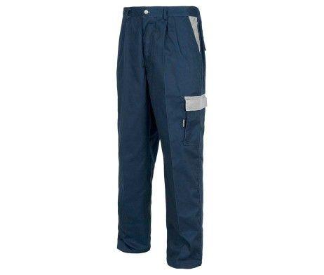 Pantalón multibolsillos laboral alta resistencia azul marino