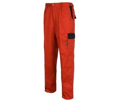 Pantalón multibolsillos laboral alta resistencia rojo
