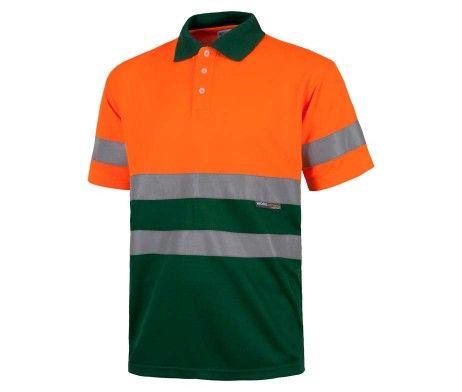 polo alta visibilidad naranja verde