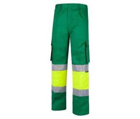 pantalon celeste uso laboral alta visibilidad