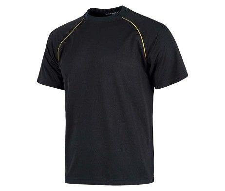 camiseta negra tecnica deporte 100 % poliéster laboral uniformes