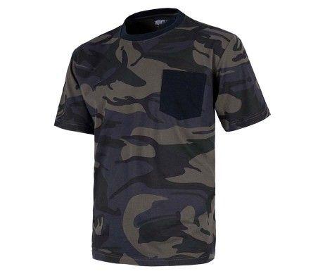 camiseta de camuflaje manga corta