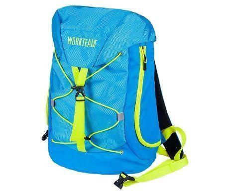 mochila deportiva alta visibilidad azul turquesa