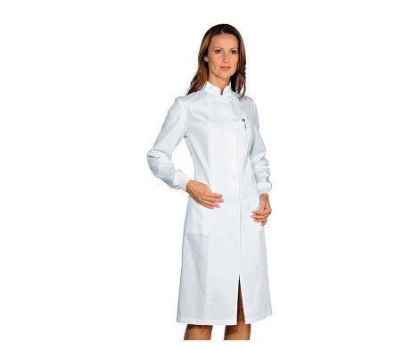 bata manga larga puño cerrado blanca medico