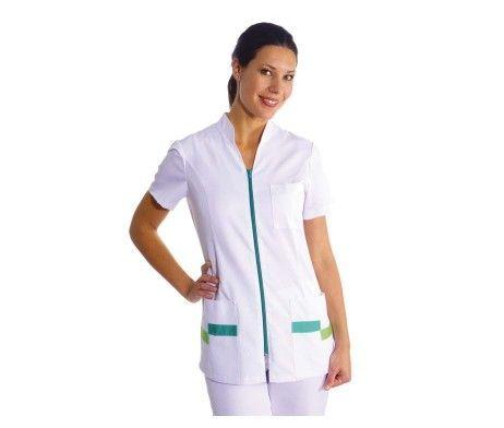 chaqueta blanca sanitaria mujer señora