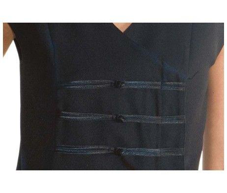 casaca negra estilo oriental