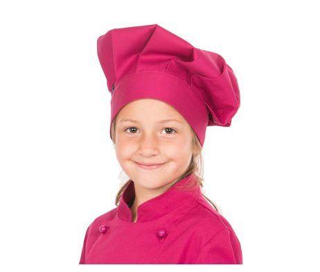 gorro infantil colores cocinero chef niños y niñas fuxia