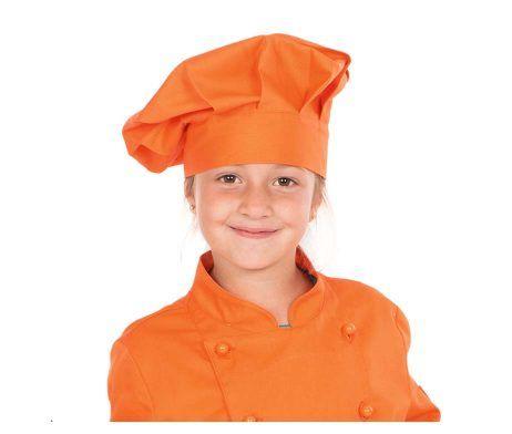gorro infantil colores cocinero chef niños y niñas naranja