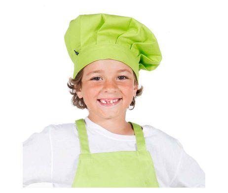 gorro infantil colores cocinero chef niños y niñas verde pistacho