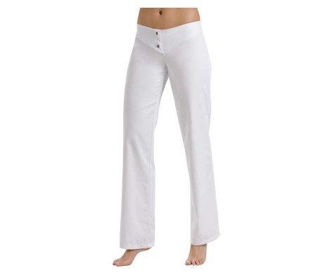 pantalón blanco de mujer