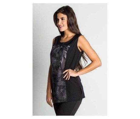 chaqueta mujer tirantes color negro indio