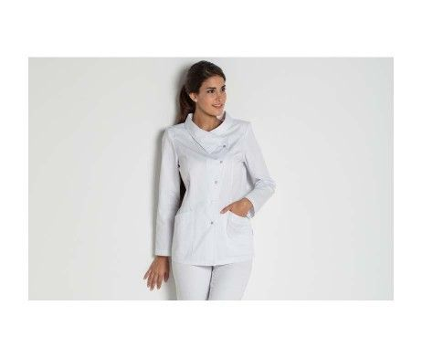 casaca mujer manga larga blanca