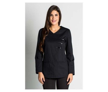 casaca de mujer para uniforme de opticas y farmacias