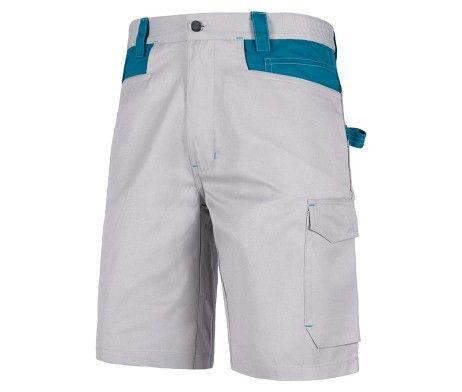 pantalon corto laboral gris azul bermuda
