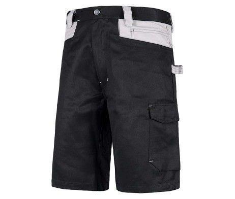 pantalon corto laboral gris negro bermuda