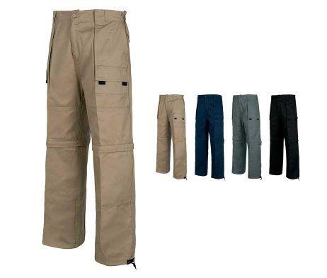 pantalon corto desmontable multibolsillos de trabajo