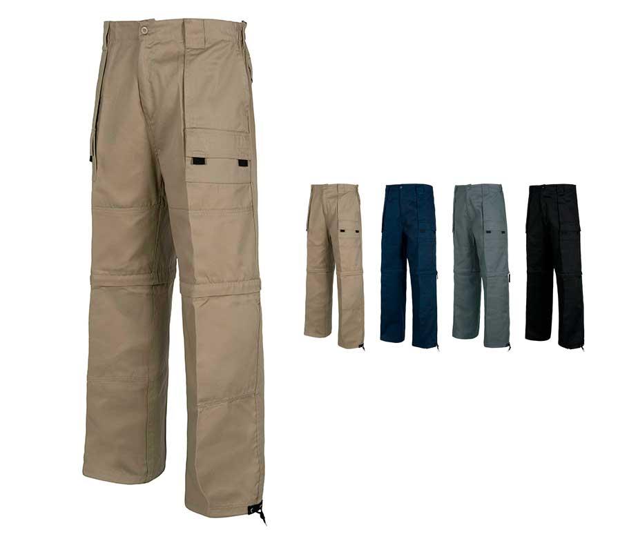 7d985af55b Pantalón de trabajo multibolsillos desmontable. Pantalones WorkTeam